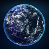 Planet earth from the space at night. Some elements of this image furnished by NASA Stock Images