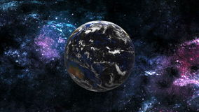 Planet Earth in Space stock video footage