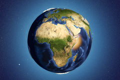 Planet Earth from space showing Africa Royalty Free Stock Photos