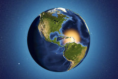 Planet Earth from space showing Americas Royalty Free Stock Images