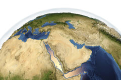 Planet Earth from space showing Arabian Peninsula Stock Photography
