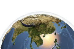 Planet Earth from space showing Asia Royalty Free Stock Photo