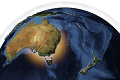 Planet Earth from space showing Australia and New Zealand Stock Image