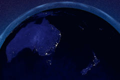 Planet Earth from space showing Australia and New Zealand Royalty Free Stock Photography