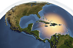 Planet Earth from space showing Central America Royalty Free Stock Photos