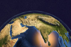 Planet Earth from space showing India and Arabian peninsula Royalty Free Stock Photo