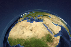 Planet Earth from space showing Northern Africa and Arabian Peninsula Stock Images
