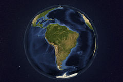 Planet Earth from space showing South America Stock Photos