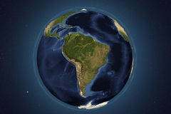 Planet Earth from space showing South America Royalty Free Stock Photography