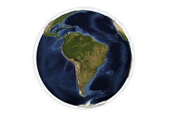 Planet Earth from space showing South America Royalty Free Stock Photos