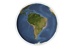 Planet Earth from space showing South America Stock Photography