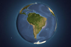 Planet Earth from space showing South America Stock Image