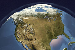 Planet Earth from space showing USA and Canada Royalty Free Stock Images