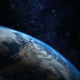 Planet earth from the space Royalty Free Stock Photo