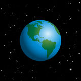 Planet Earth In Space Starry Night Sky Royalty Free Stock Photo
