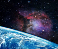 Planet earth in the space. Royalty Free Stock Image