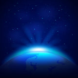 Planet Earth in space vector background Stock Image