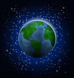 Planet Earth in space Royalty Free Stock Photos