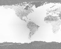 Planet Earth Stained Glass BW Royalty Free Stock Photos