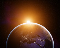 Planet Earth sunrise royalty free stock photo