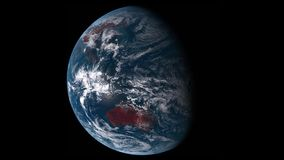 Planet Earth Time-Lapse Animation stock video footage