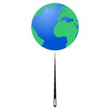 Planet Earth on the tip of the needle (Earth Day) - illustration Stock Photography