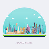 Planet earth travel the world. Royalty Free Stock Image