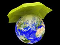 Planet Earth under umbrella Royalty Free Stock Image