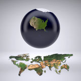 Planet earth with only United States of America Stock Image