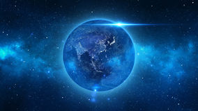Planet Earth in universe or space, Earth and galaxy in a nebula cloud Royalty Free Stock Photography