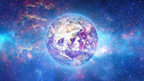Planet Earth in universe or space, Earth and galaxy in a nebula cloud Royalty Free Stock Photos