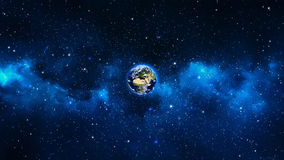 Planet Earth in universe or space, Earth and galaxy in a nebula clouds Royalty Free Stock Photo