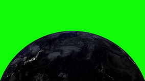 Planet earth in universe or space, Globe and galaxy in a nebula cloud LOOP. Planet Earth in universe or space rotation 360 degrees with the Sun, Earth and galaxy stock footage
