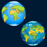 Planet Earth. Vector set.  colorful planet Stock Photo