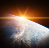 Planet Earth view 3D rendering elements of this image furnished Stock Image
