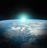 Planet Earth view 3D rendering elements of this image furnished Royalty Free Stock Photography