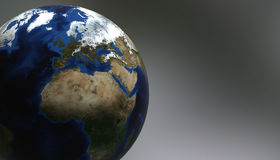 Planet Earth view showing Africa and Europe, 3d render Royalty Free Stock Images