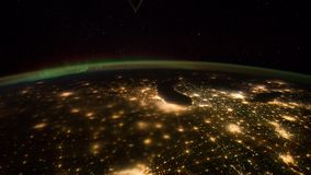 Planet Earth View from Space or the ISS stock footage
