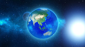Planet Earth viewed from space Royalty Free Stock Photos