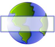Planet Earth Web Page Logo Royalty Free Stock Photo