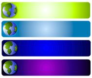 Planet Earth Web Page Logo Royalty Free Stock Images