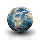 Planet earth on a white background. Planet earth, globe map, on a white background Stock Images