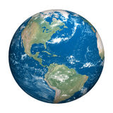 Planet earth white background. Three dimensional original like planet earth generated by me Royalty Free Stock Image