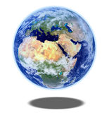 Planet earth on white background Stock Photography