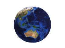 Planet Earth on white 3d illustration Stock Images