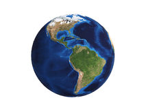 Planet Earth on white 3d illustration Stock Photography