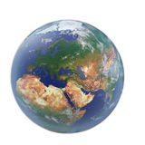 Planet Earth on white. 3D illustration, clipping path Royalty Free Stock Images