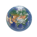 Planet Earth on white. 3D illustration, clipping path Royalty Free Stock Photo