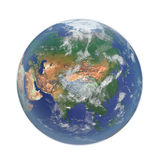 Planet Earth on white. 3D illustration, clipping path Royalty Free Stock Image