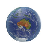 Planet Earth on white. 3D illustration, clipping path Stock Image